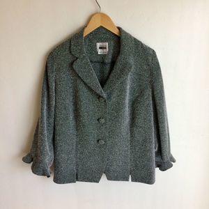 Leslie Faye Plus Size Tweed Jacket Herringbone